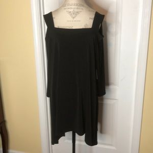 "Chico Black Cold Shoulder Tunic ""NWT"" Size XL"